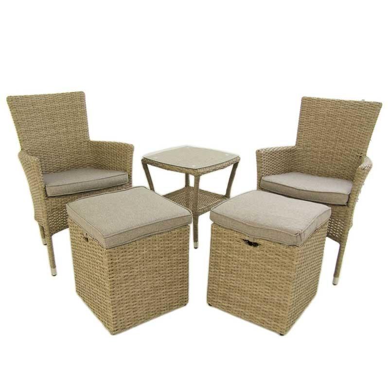 Conjunto muebles jardin de rattan sintetico vasteras for Ofertas muebles jardin
