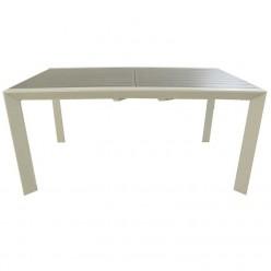 Mesa exterior extensible 160/220 de aluminio Silver-Laver