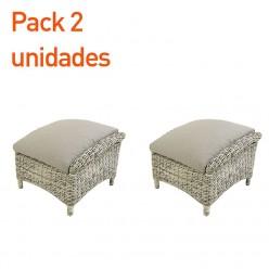 Reposapies de exterior Lux Blanco - Pack 2 unidades