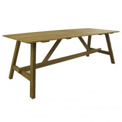 Mesa para jardín madera teca 215 Teca Lux
