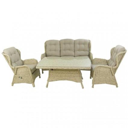 Conjunto sofás de jardín de ratán sintético redondo Sala