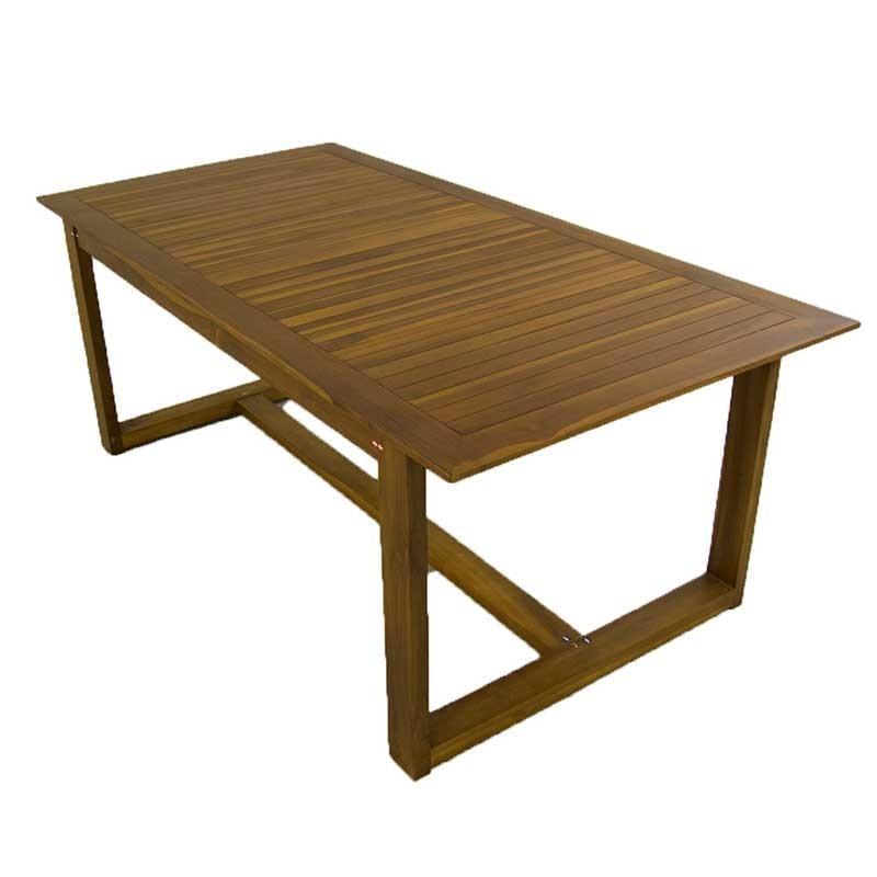 Mesa jardin de madera de teca 200 for Ofertas mesas de jardin