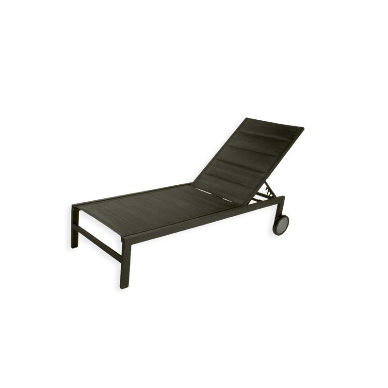 Tumbona de jardin aluminio textilene negro for Comprar muebles jardin baratos