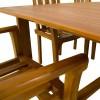 Conjunto teca de exterior mesa y 6 sillones apilables Texas