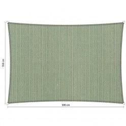 Toldo vela rectangular de exterior 3 x 5 m verde