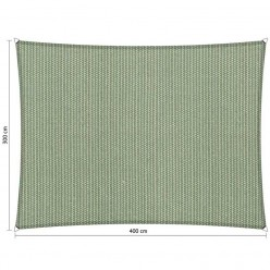 Toldo vela rectangular de exterior 3 x 4 m verde