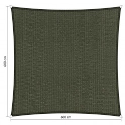 Toldo vela cuadrada 6 x 6 m para jardín gris oscuro