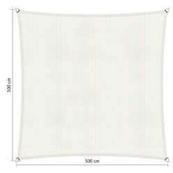 Toldo vela de exterior cuadrado 5 x 5 m blanco