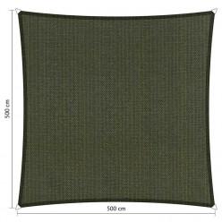 Toldo vela de exterior cuadrado 5 x 5 m gris oscuro