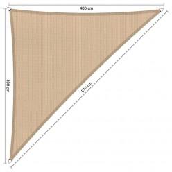 Toldo vela arena triangular de jardín 4 x 4 x 5,7 m
