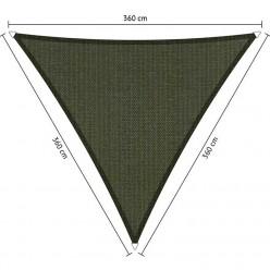 Toldo vela de exterior triangular 3,6 x 3,6 x 3,6 m gris oscuro