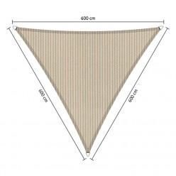 Toldo vela triangular de exterior 6 x 6 x 6 m beige