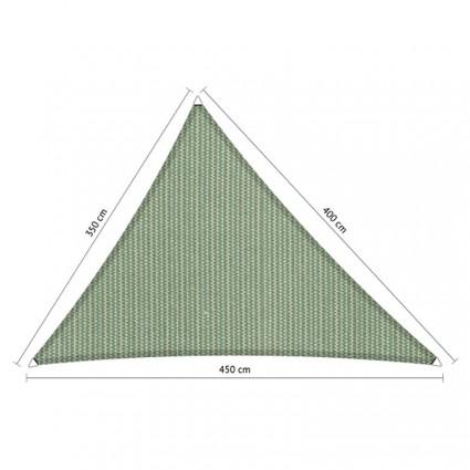 Toldo vela de jardín triangular 3,5 x 4 x 4,5 m verde