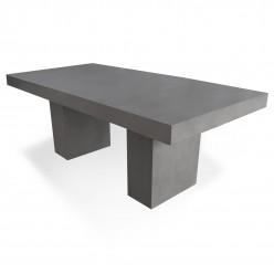 Mesa para exterior en cemento 200 cm