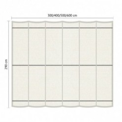 Juego de toldo para pérgola para exterior 2.90 x 5m Blanco