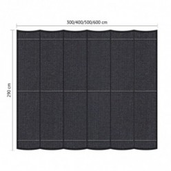 Set de toldo pérgola para jardín 2.90 x 5m Negro