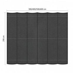 Juego de toldo de pérgola de exterior 2.90 x 6m Gris oscuro
