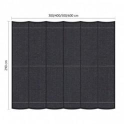 Juego de toldo pérgola para exterior 2.90 x 6m Negro