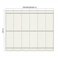 Juego de toldo para pérgola de jardín 2.90 x 6m Blanco