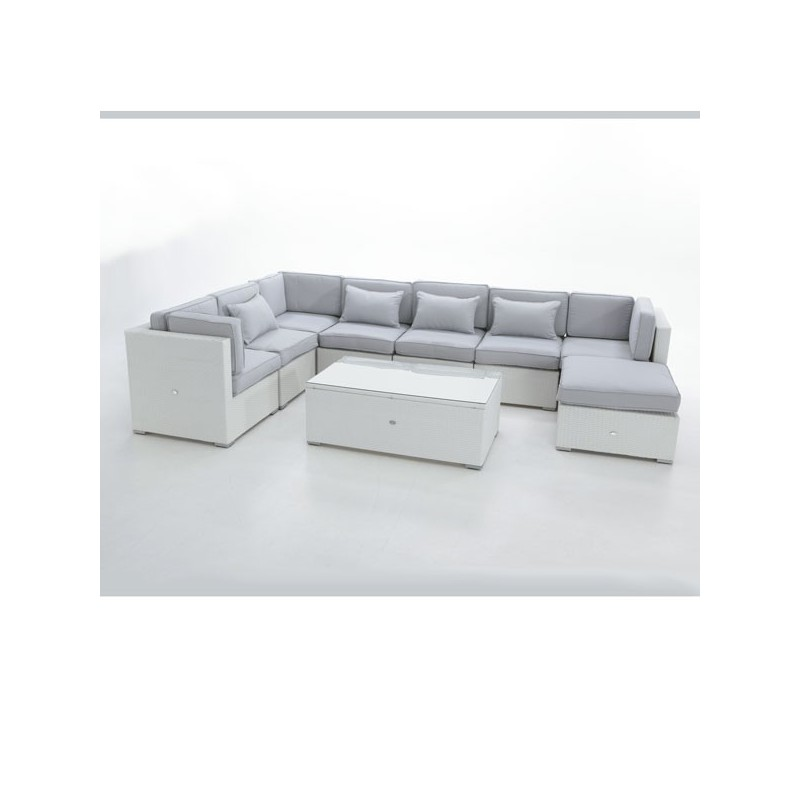 Conjunto para jardin sofa modular fibra san luis for Comprar muebles exterior