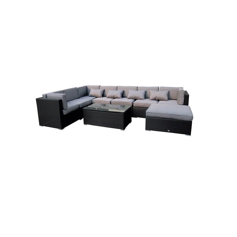 Conjunto sofas jardin y mesa centro fibra tampa for Muebles exterior online