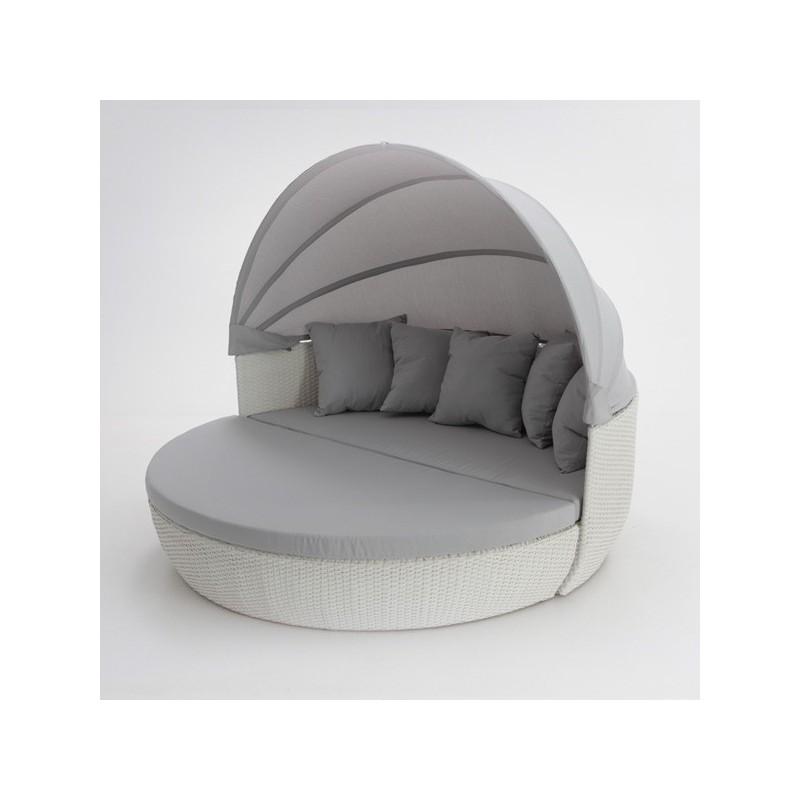 Conjunto sofa modular jardin blanco Nado Denver