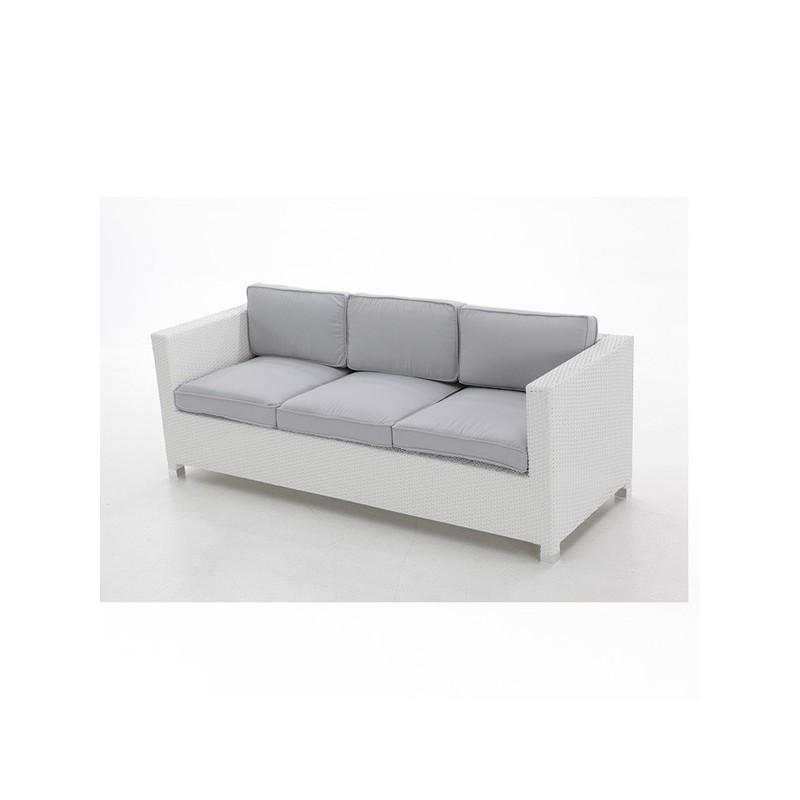 Sofa para terraza fibra 3 plazas san luis for Sofa exterior tres plazas