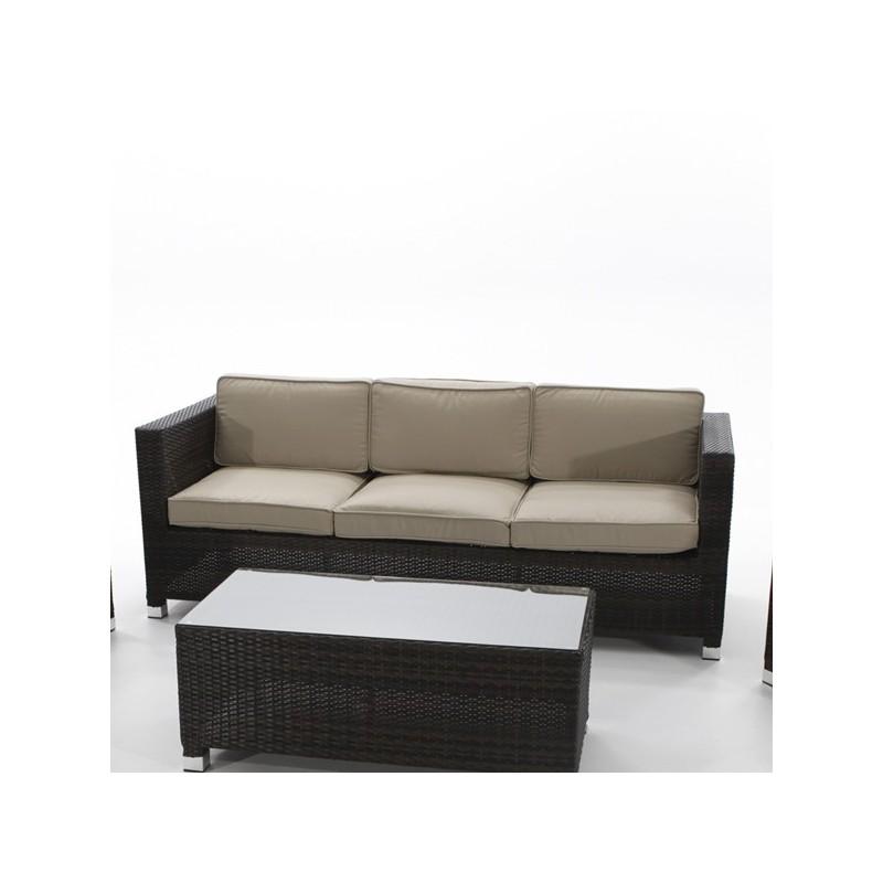 sofa de exterior fibra 3 plazas florida