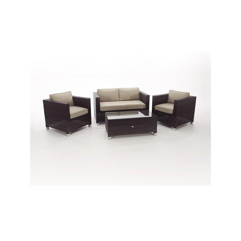 Conjunto sofas exterior fibra florida for Conjunto de sofas para exterior
