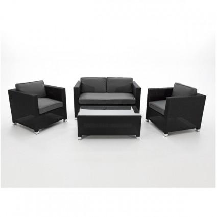 Conjunto sofas para terraza fibra negro peoria - Sofas para terraza ...