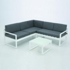 Sofá de exterior aluminio 5 plazas Sumatra