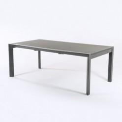 Mesa extensible de jardín Antracita 200/300