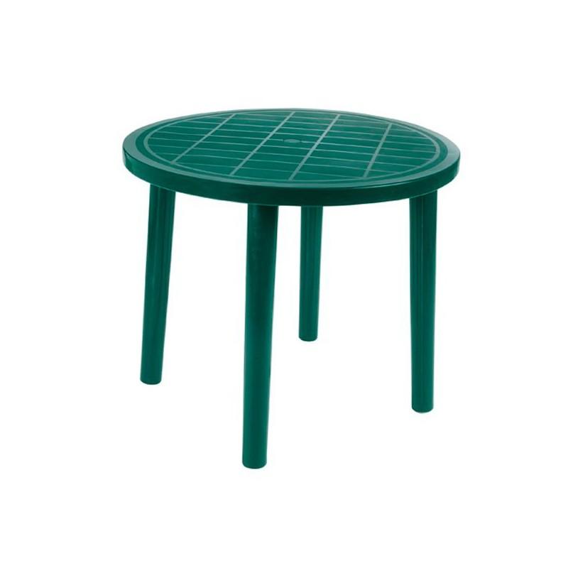 Mesa de aluminio de exterior outlet en mobiliario de - Mesa redonda exterior ...