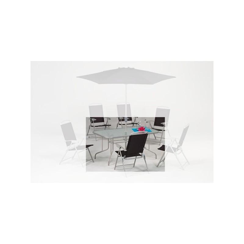 Venta online de mobiliario de jardin oferta de mesas de for Mesa cristal exterior