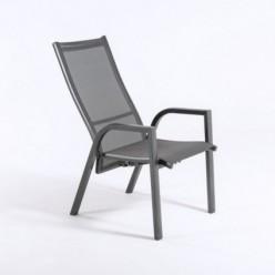 Sillón para jardín reclinable Antracita