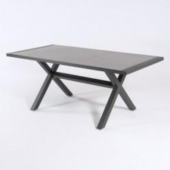 Mesa de aluminio 180 cm y tablero estilo cerámica color Antracita