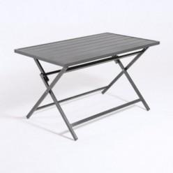 Mesa de Aluminio para exterior plegable 120 cm Antracita