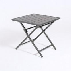 Mesa de aluminio para jardín plegable 70 cm Antracita
