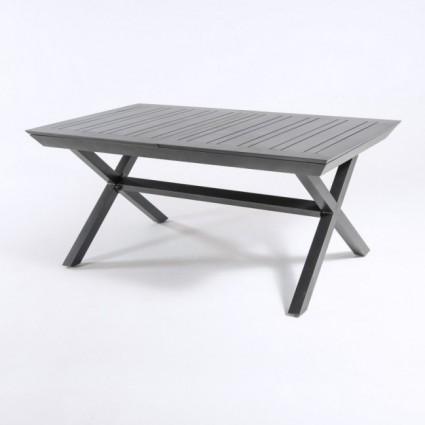 Mesa de jardín con pies en X extensible 170-240 de aluminio Antracita