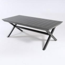 Mesa de exterior con pies en X extensible 215-295 Antracita