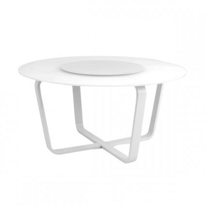 Mesa de terraza redonda verona 150 for Muebles exterior aluminio blanco