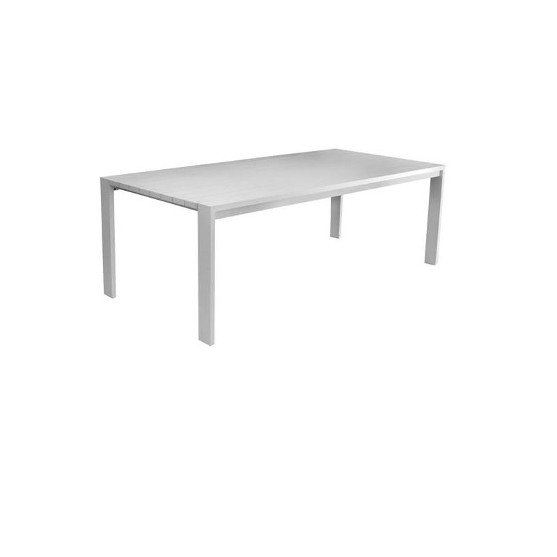 Mesa de terraza miami for Muebles exterior aluminio blanco
