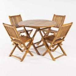 Conjunto mesa y 4 sillas teca jardín Megan