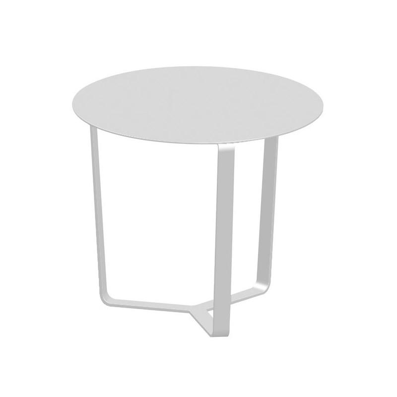 Mesa centro de terraza apollo for Muebles exterior aluminio blanco