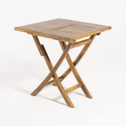 Mesa de teca de jardín cuadrada 70 cm