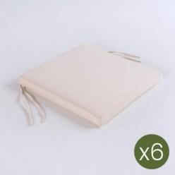 Cojín de exterior estándar beige - Pack 6 unidades