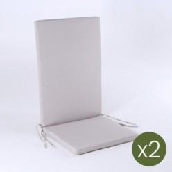 Cojín posiciones para jardín lux arena - Pack 2 unidades