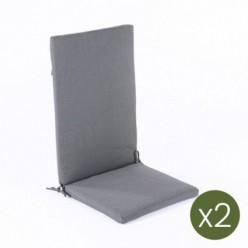 Cojín posiciones para jardín lux antracita - Pack 2 unidades