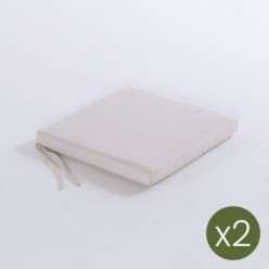 Cojín asiento para jardín Olefin crudo - Pack 2 unidades