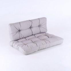 Cojín asiento y respaldo para palet estándar piedra